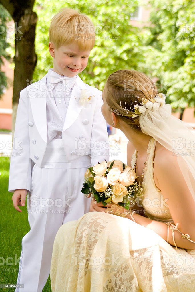 woman and the child royalty-free stock photo