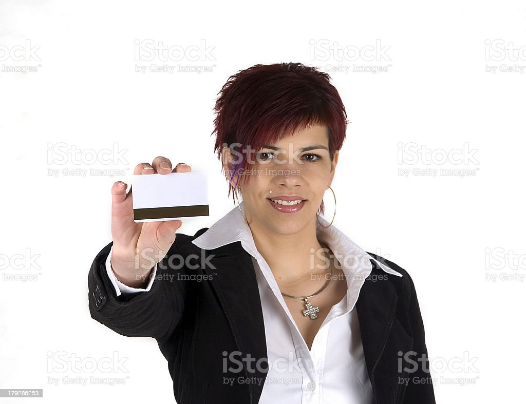 woman and the credit card stock photo