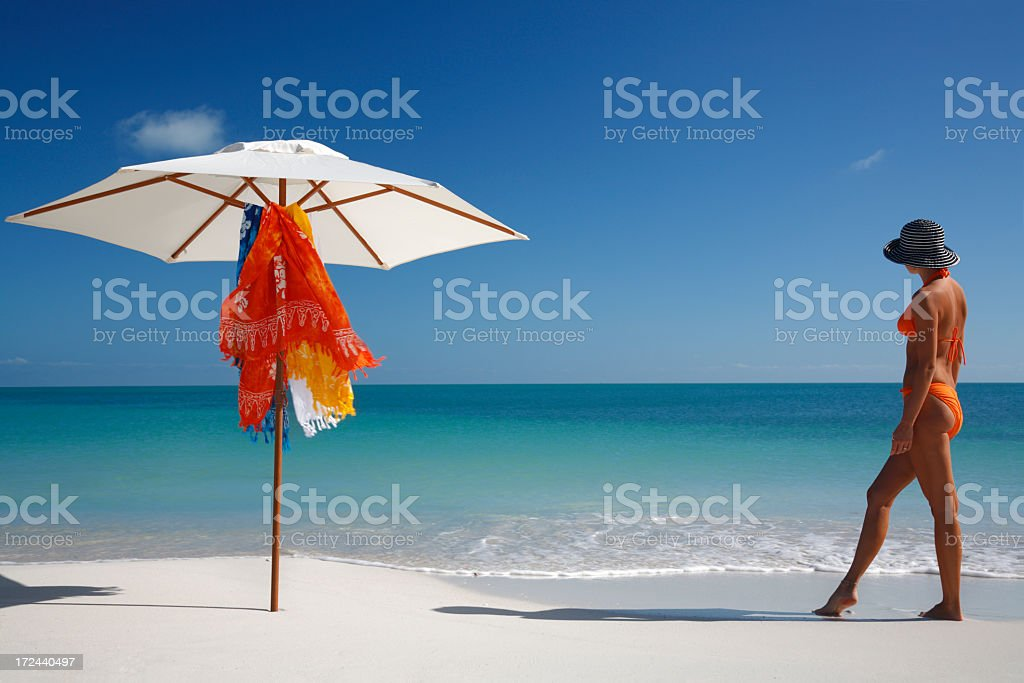 woman and umbrella royalty-free stock photo