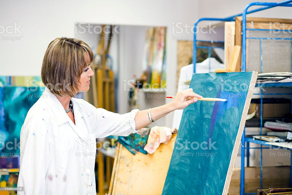 woman artist royalty-free stock photo