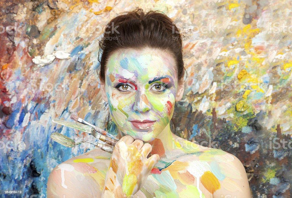 Woman artist stock photo