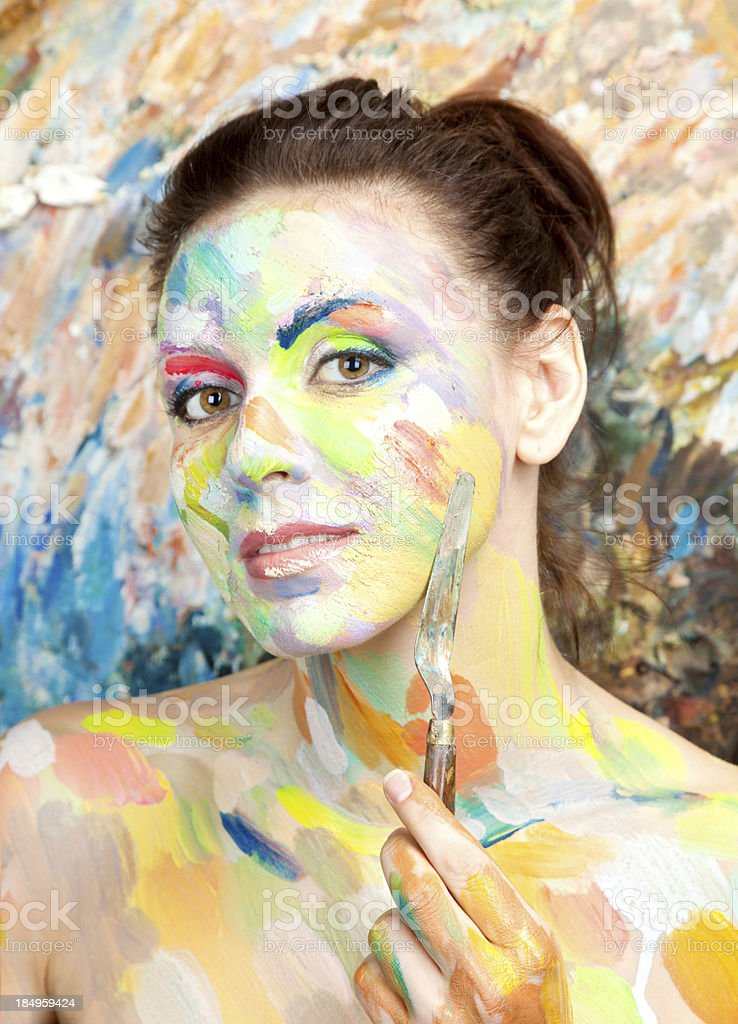 Woman artist stock photo