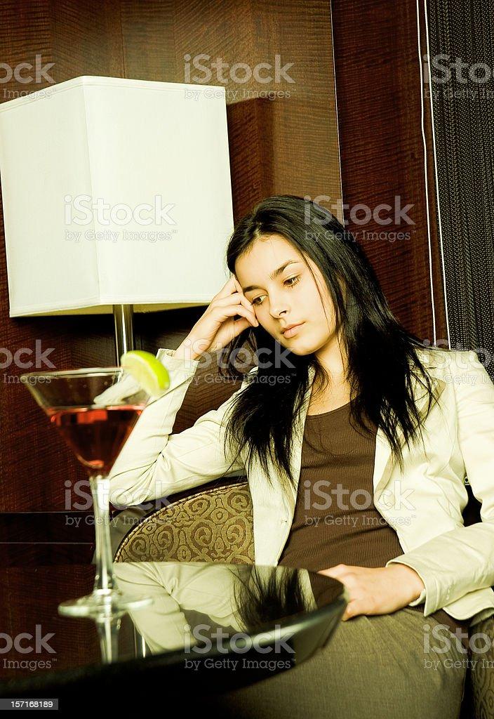 Woman at a Bar royalty-free stock photo