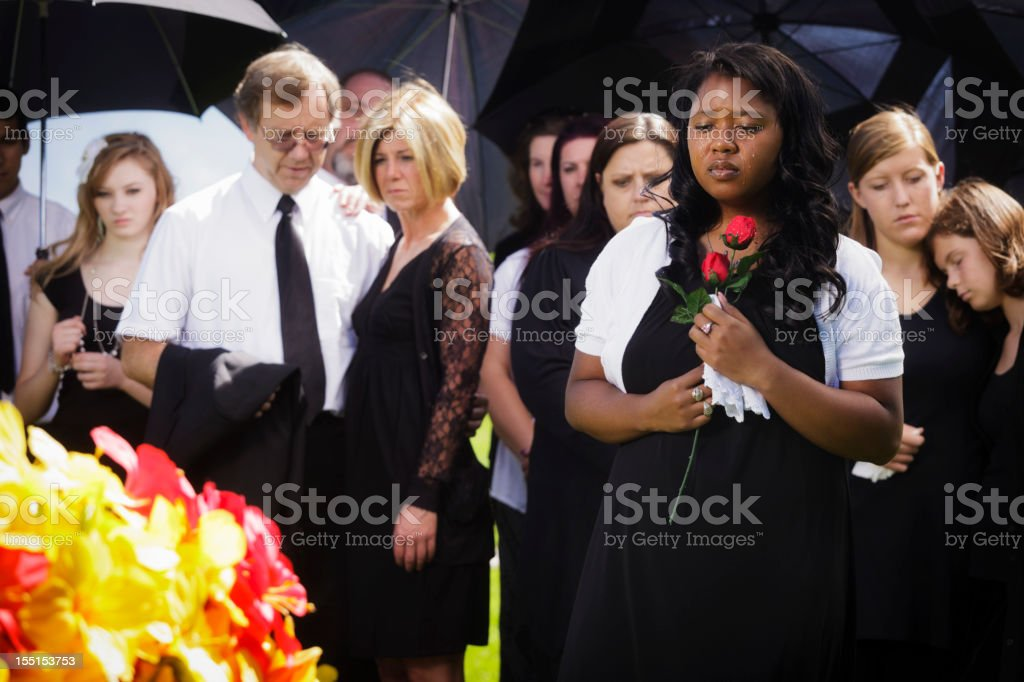 Woman at a Funeral royalty-free stock photo