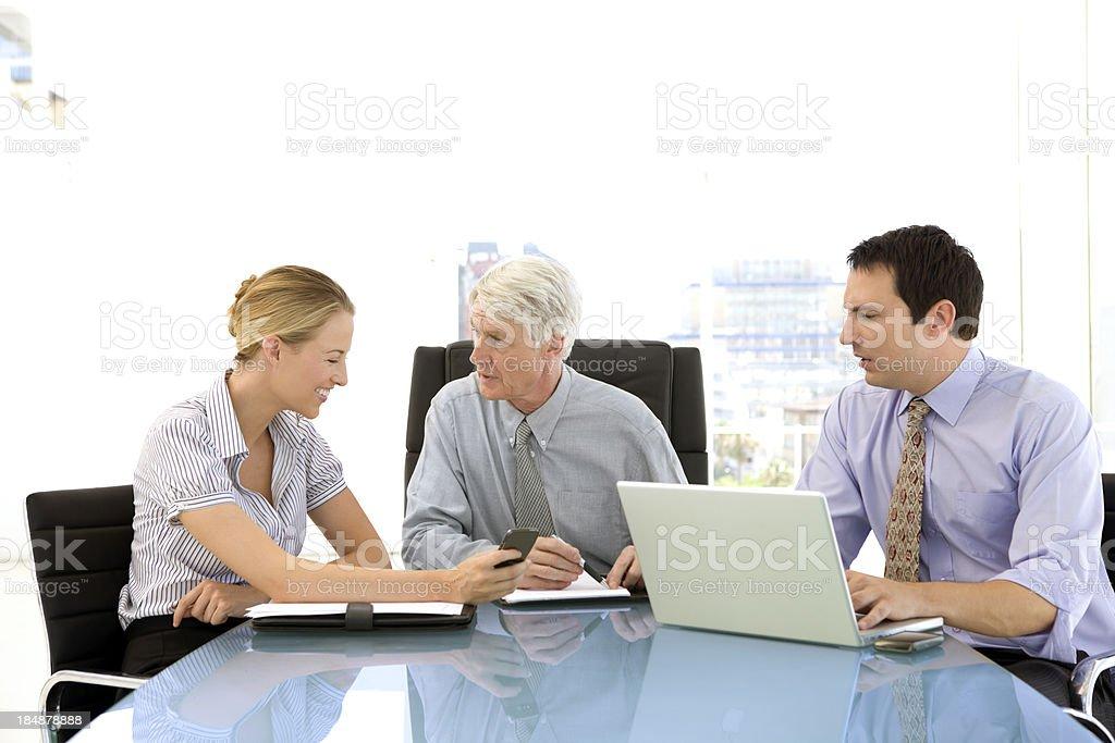 Woman at a meeting royalty-free stock photo