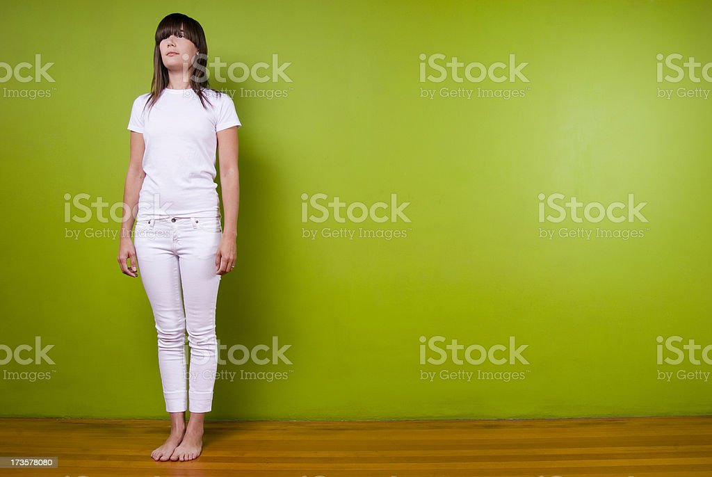 Woman at Attention stock photo