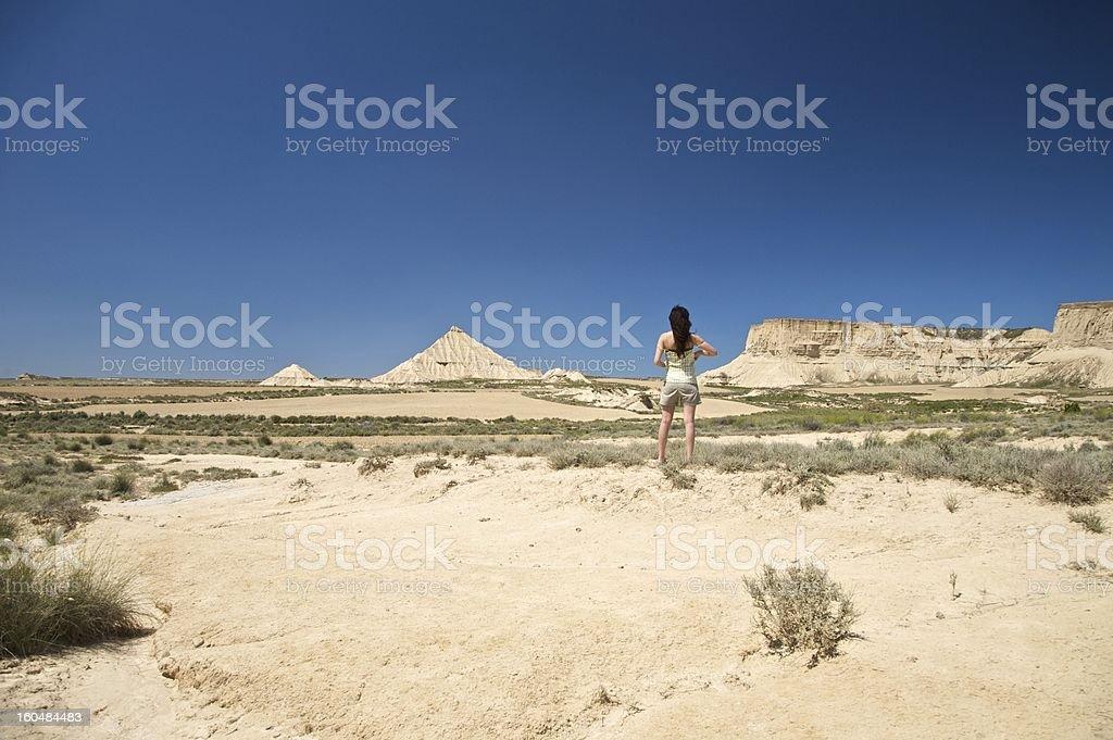 woman at bardenas reales royalty-free stock photo