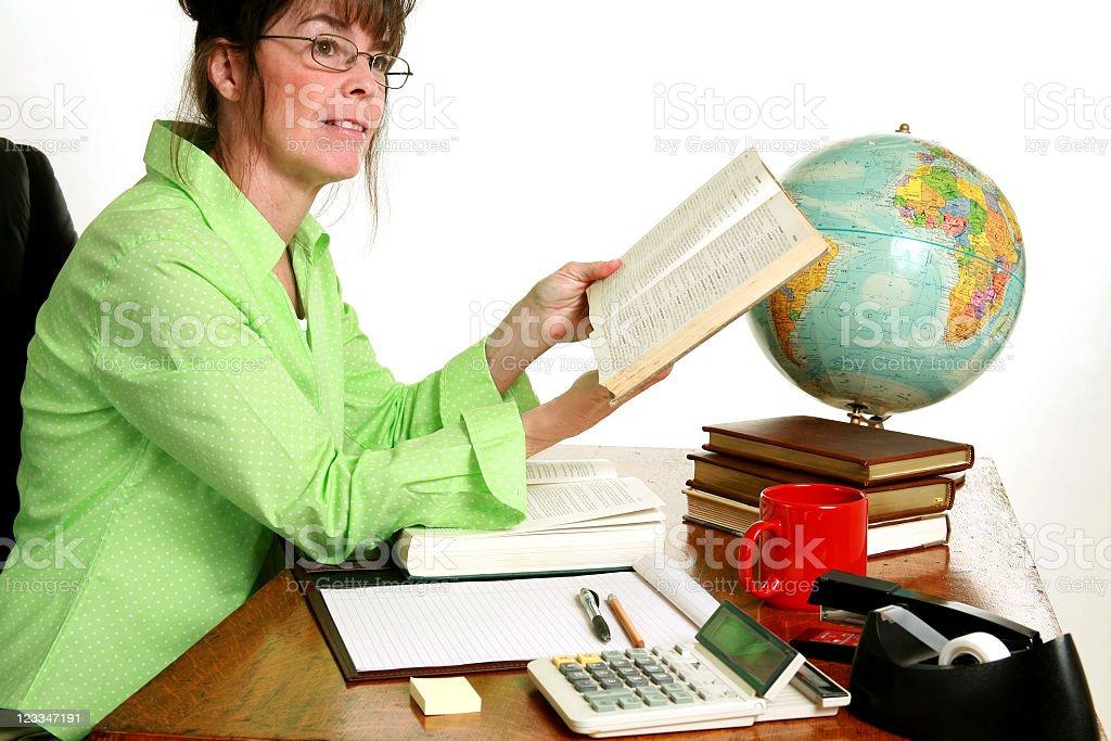 Woman at desk royalty-free stock photo