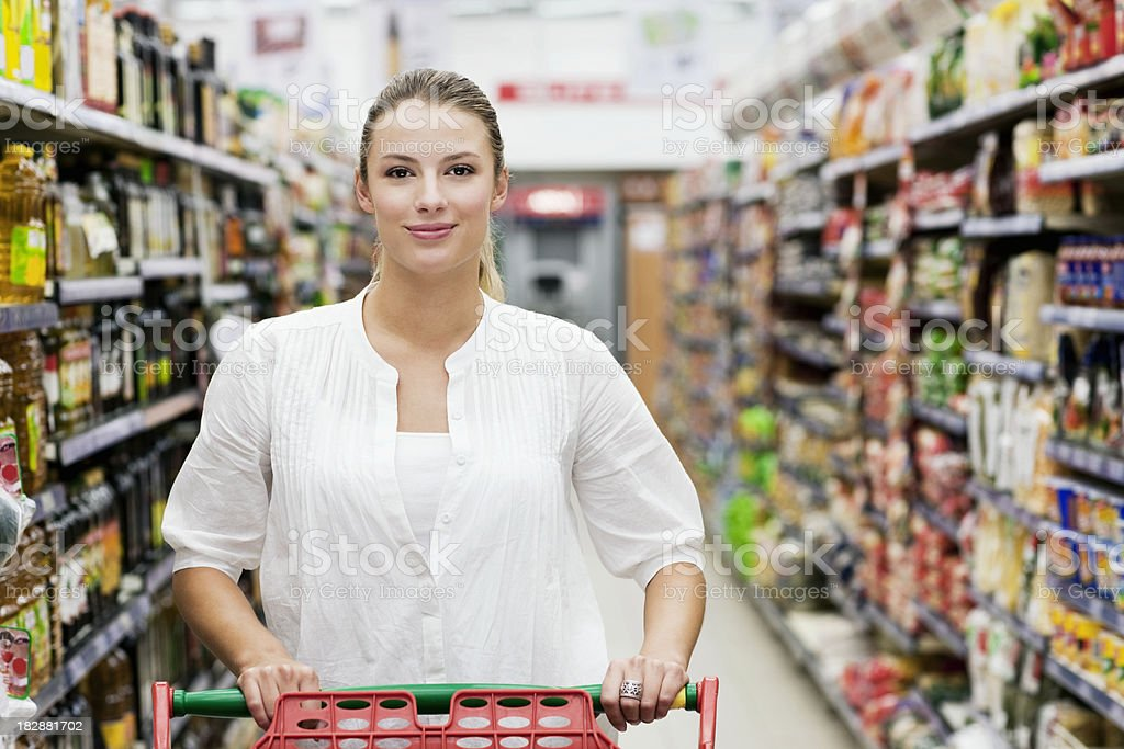 Woman at Grocery Store royalty-free stock photo