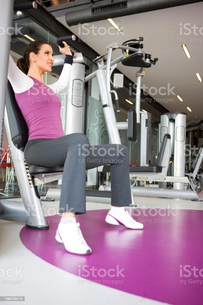 Woman at gym royalty-free stock photo