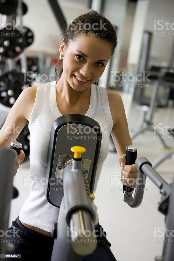 Woman at gym royalty-free stock photo