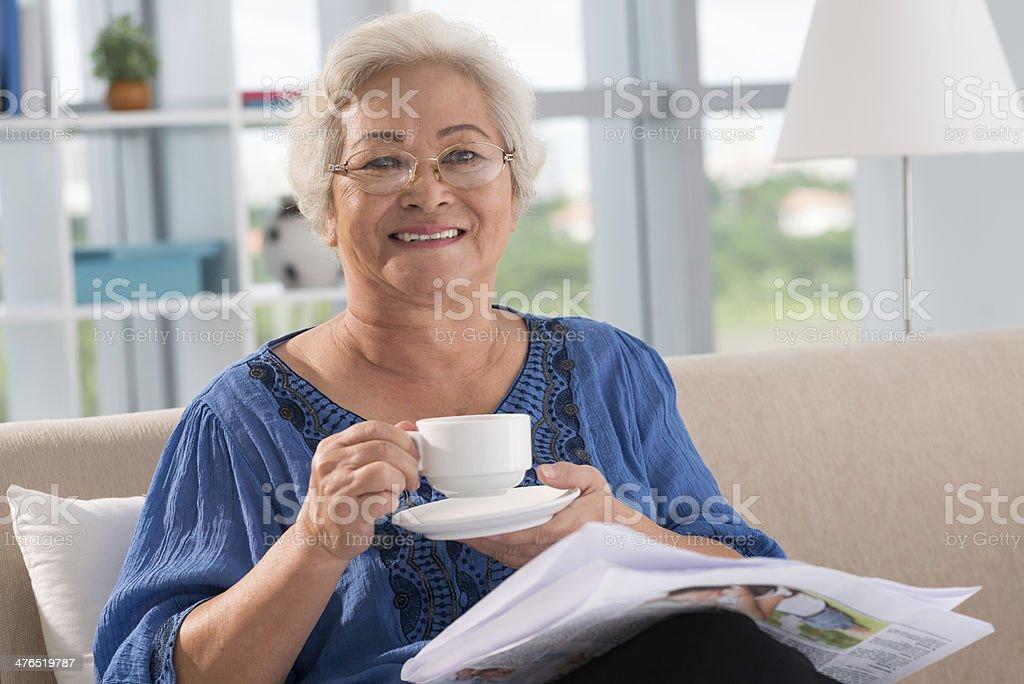 Woman at home royalty-free stock photo