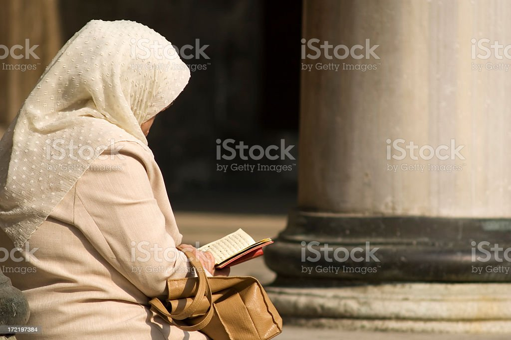 Woman at Mosque royalty-free stock photo