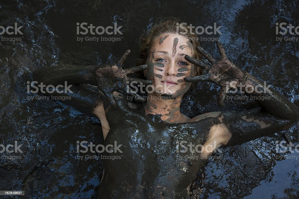 Woman at Mud Spa royalty-free stock photo