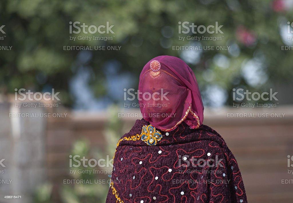 Woman at Rajasthan royalty-free stock photo