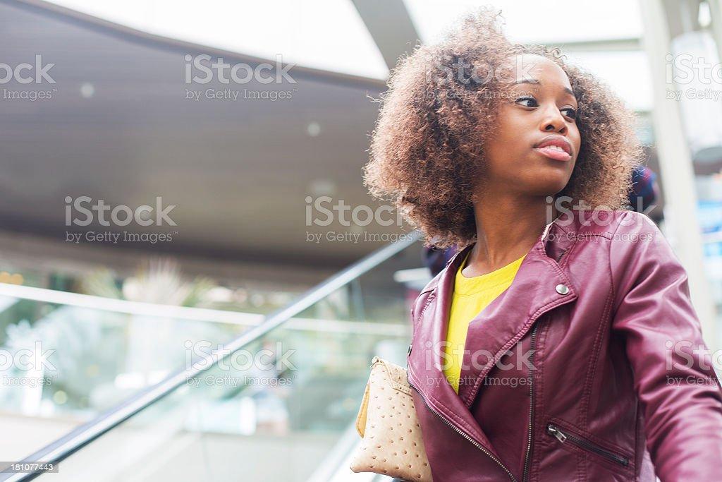 Woman at Shopping Mall royalty-free stock photo