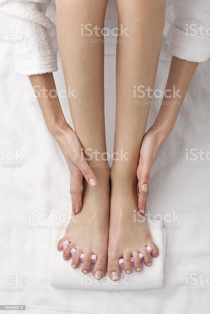 woman at spa - legs detail royalty-free stock photo