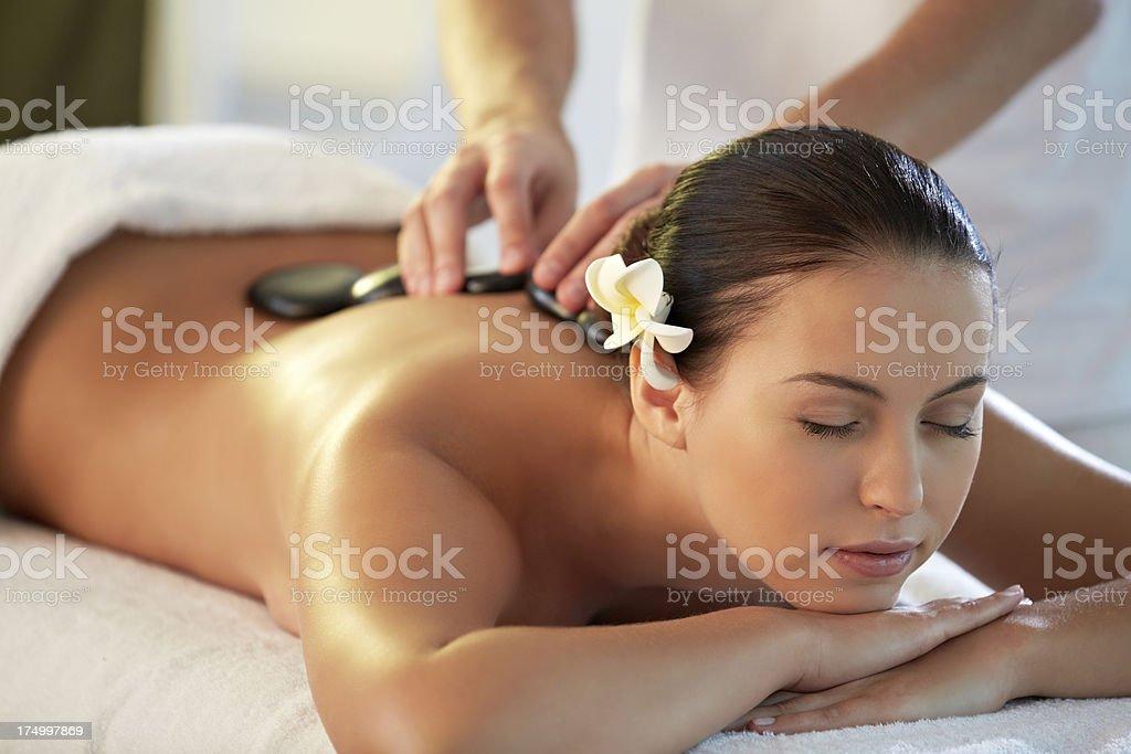 Woman at spa salon royalty-free stock photo