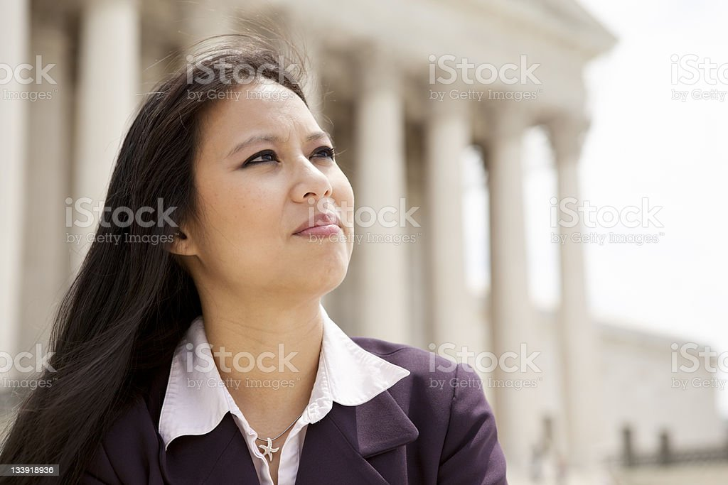 Woman at Supreme Court royalty-free stock photo