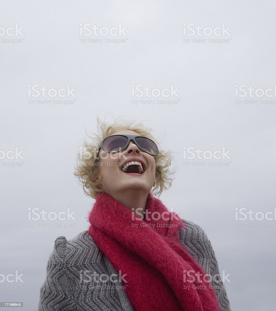 A woman at the beach royalty-free stock photo