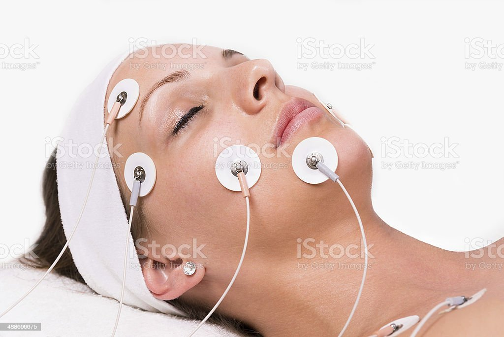 Woman at the beautician. stock photo