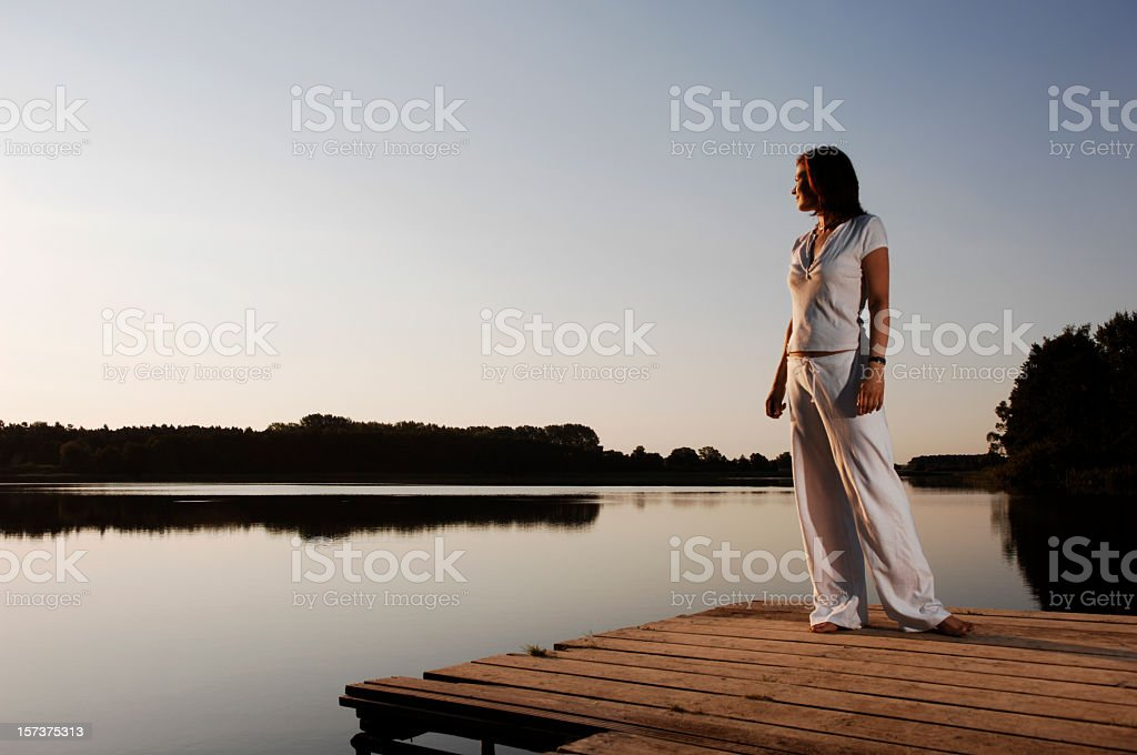 woman at the lake serie royalty-free stock photo
