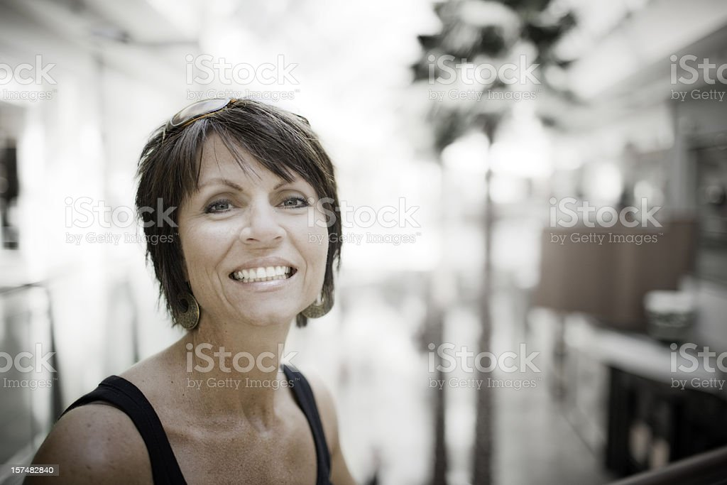 Woman at the mall stock photo