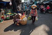 Woman at the morning market, Vietnam