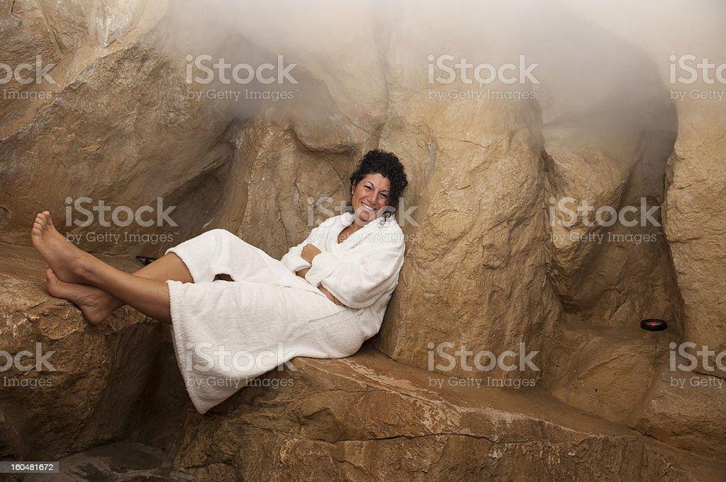 Woman at the spa royalty-free stock photo