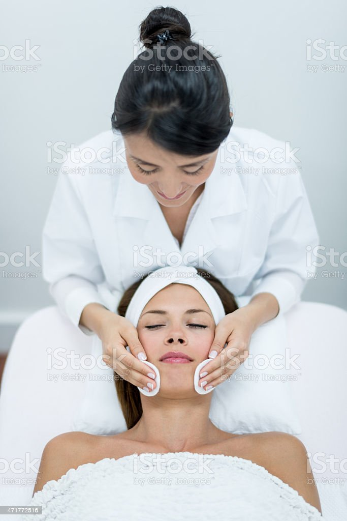 Woman at the spa stock photo