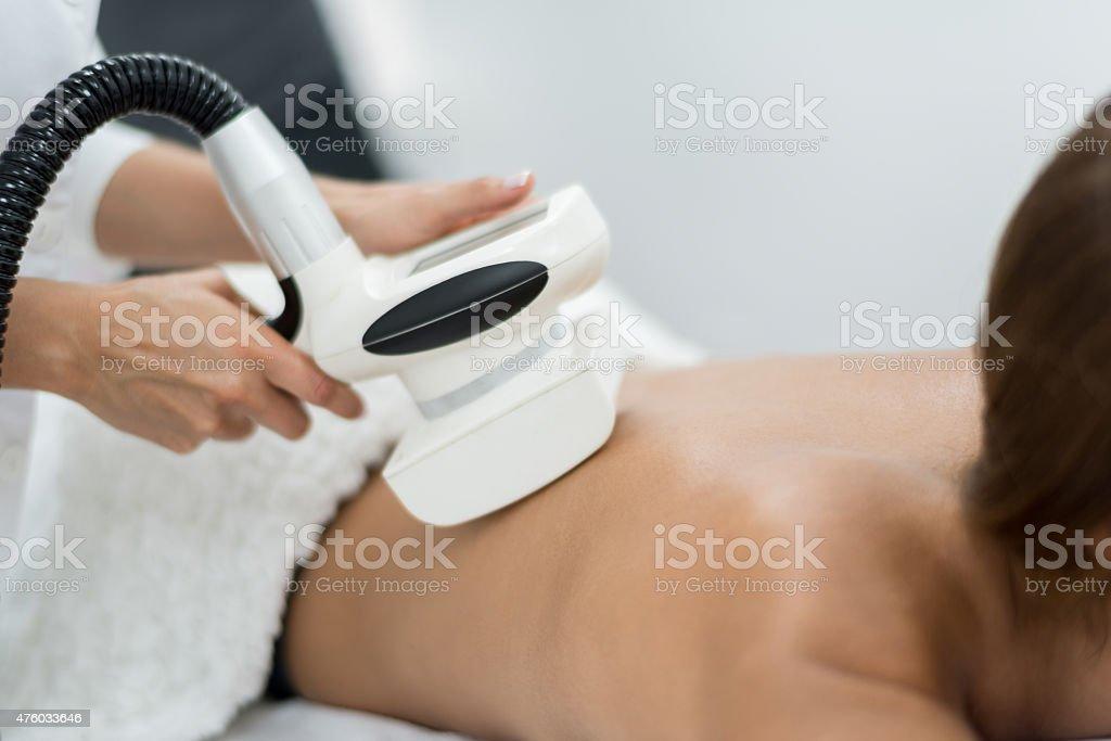 Woman at the spa stock photo
