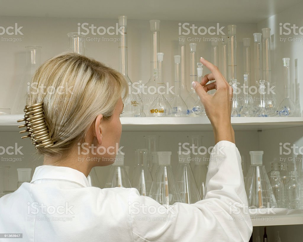 woman at work in laboratory royalty-free stock photo
