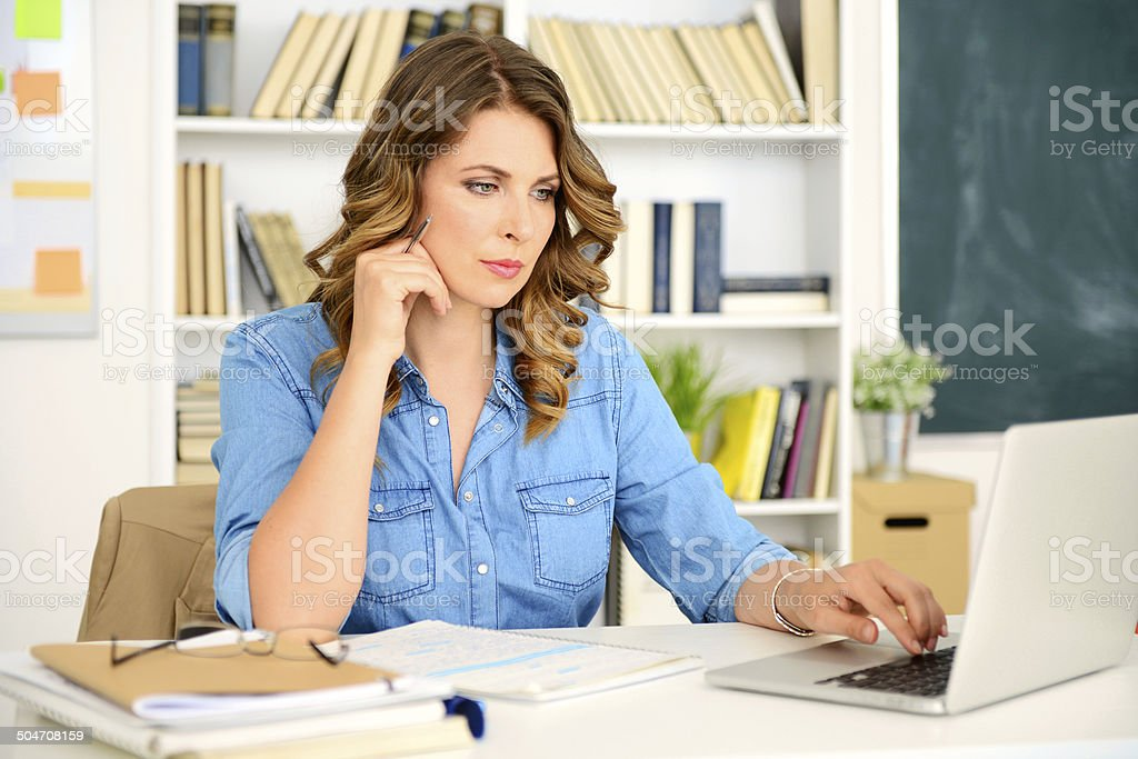 woman at work royalty-free stock photo