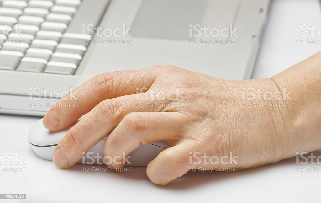 Woman at work with laptop royalty-free stock photo