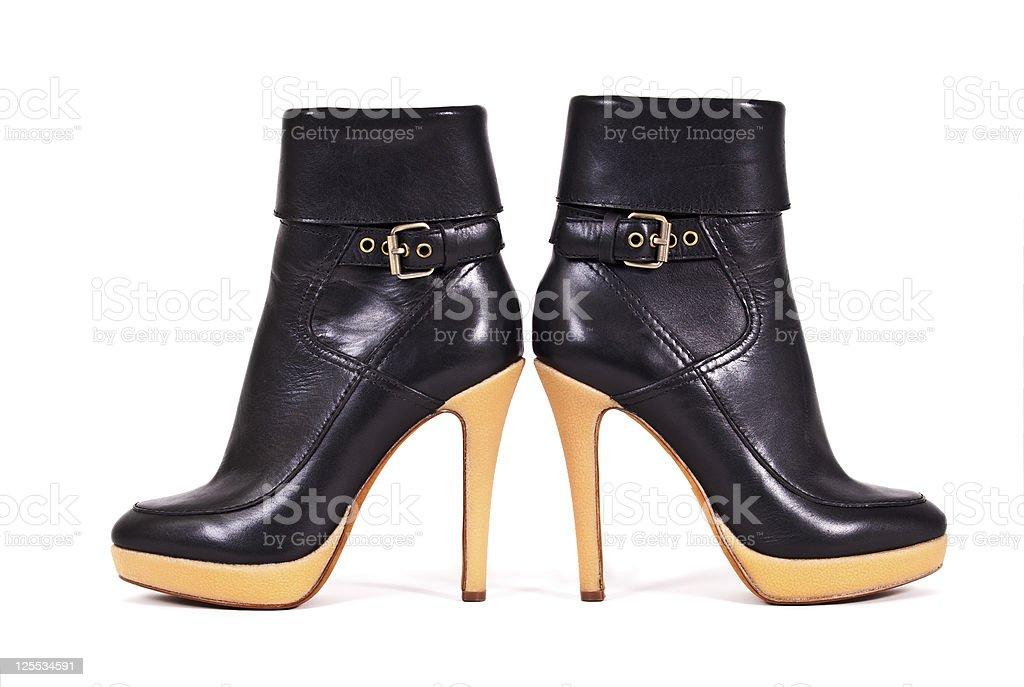 woman autumn boots royalty-free stock photo
