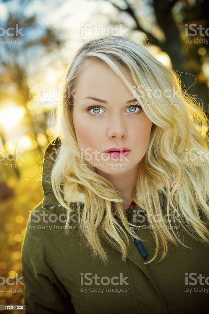 Woman autumn portrait royalty-free stock photo