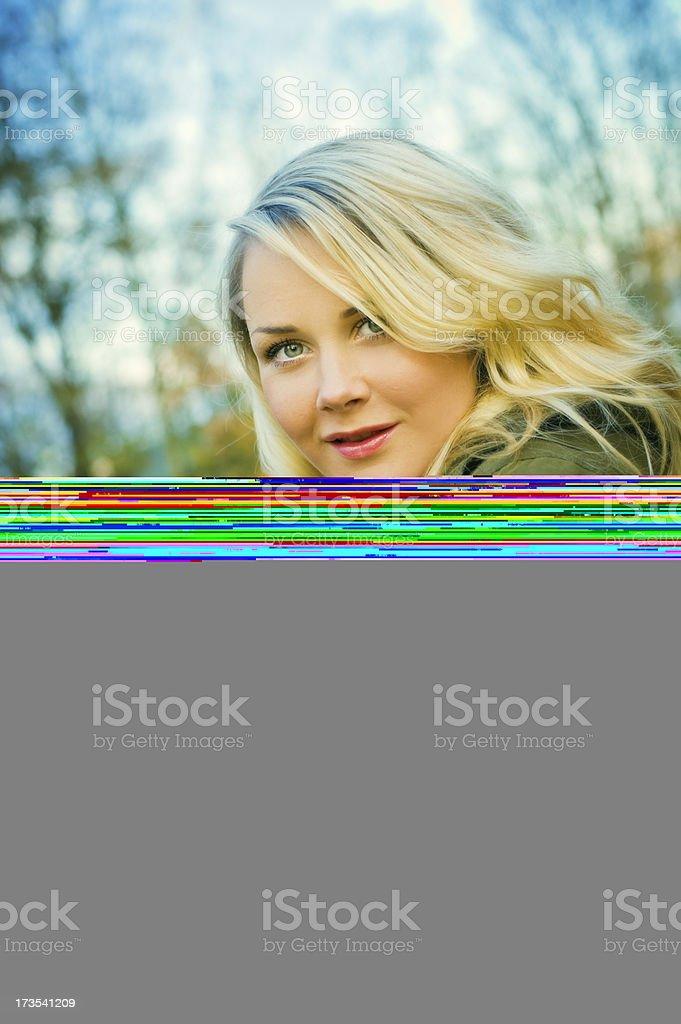 Woman autumn portrait royalty-free stock photo