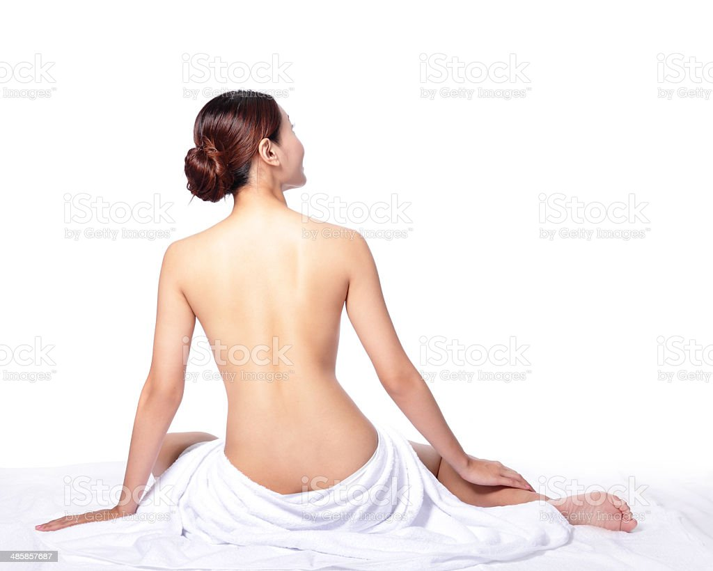woman back view stock photo
