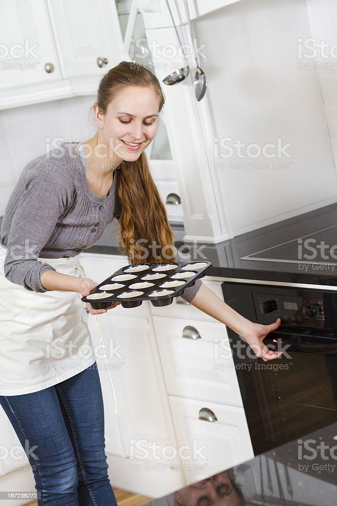 Woman Baking royalty-free stock photo