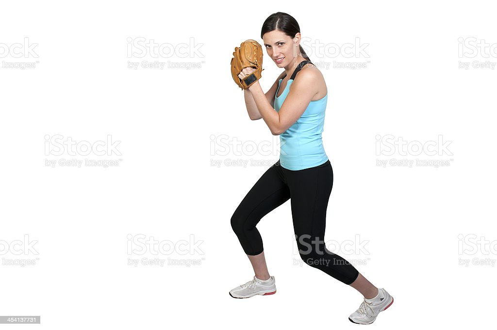 Woman Baseball Player royalty-free stock photo