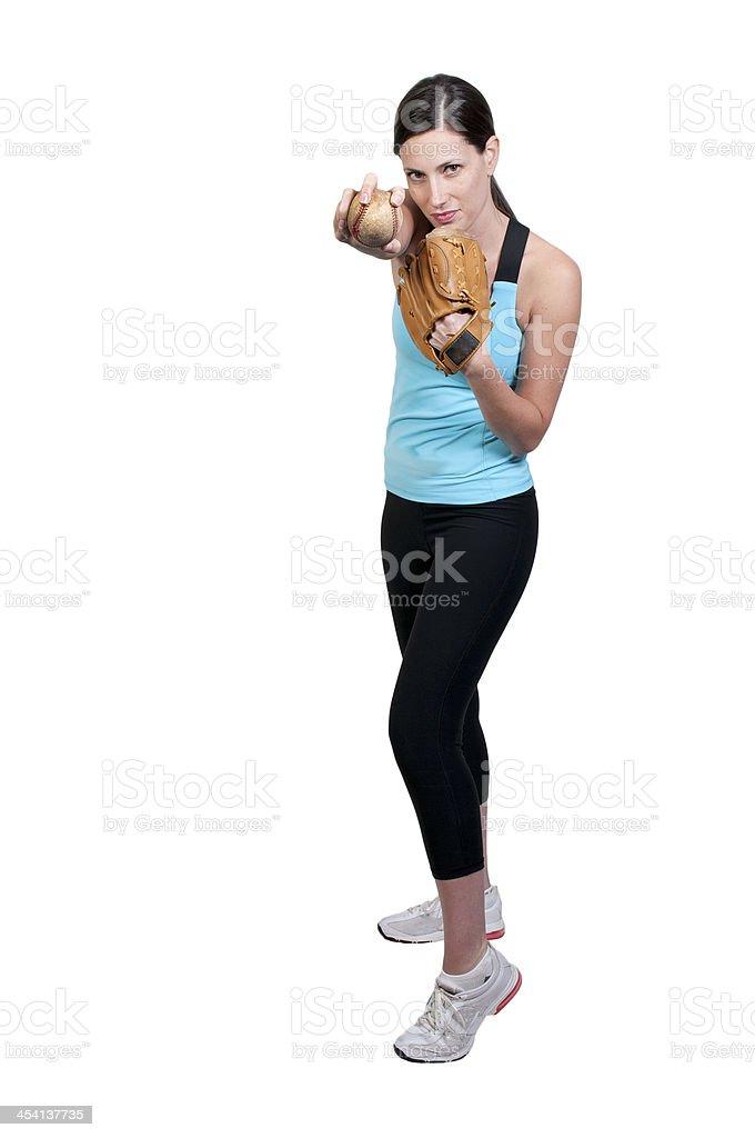 Woman Baseball Player royalty-free stock photo
