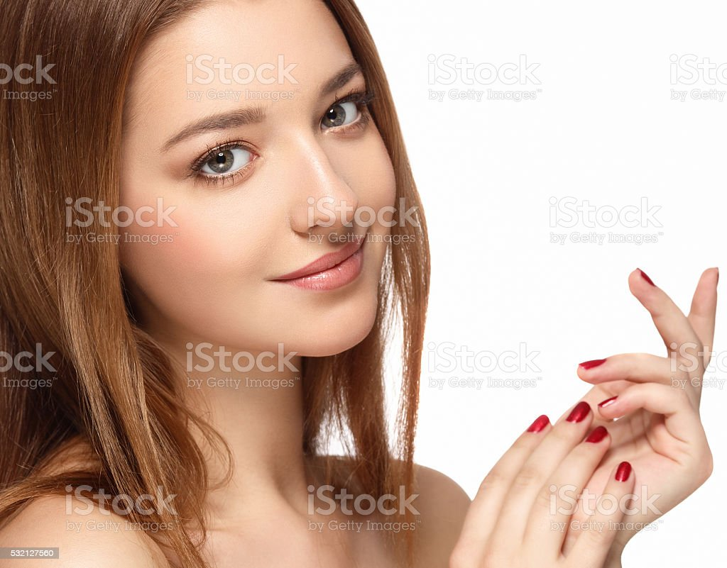 Woman Beauty portrait of attractive female. stock photo