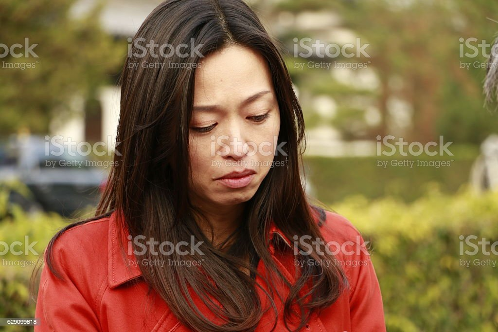 Woman being angry stock photo