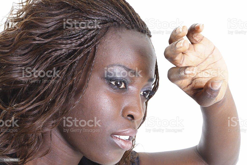 Woman Blocking the Light royalty-free stock photo