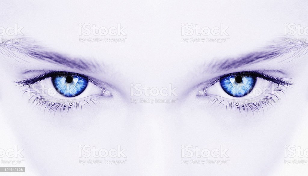 woman blue eyes royalty-free stock photo