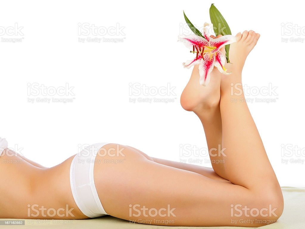 Woman Body Care royalty-free stock photo