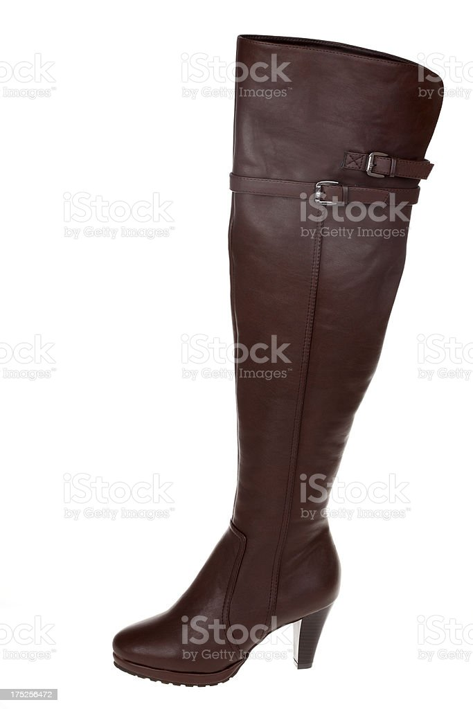 Woman Boot on white background stock photo