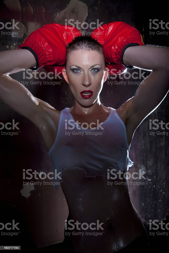 Woman Boxer royalty-free stock photo