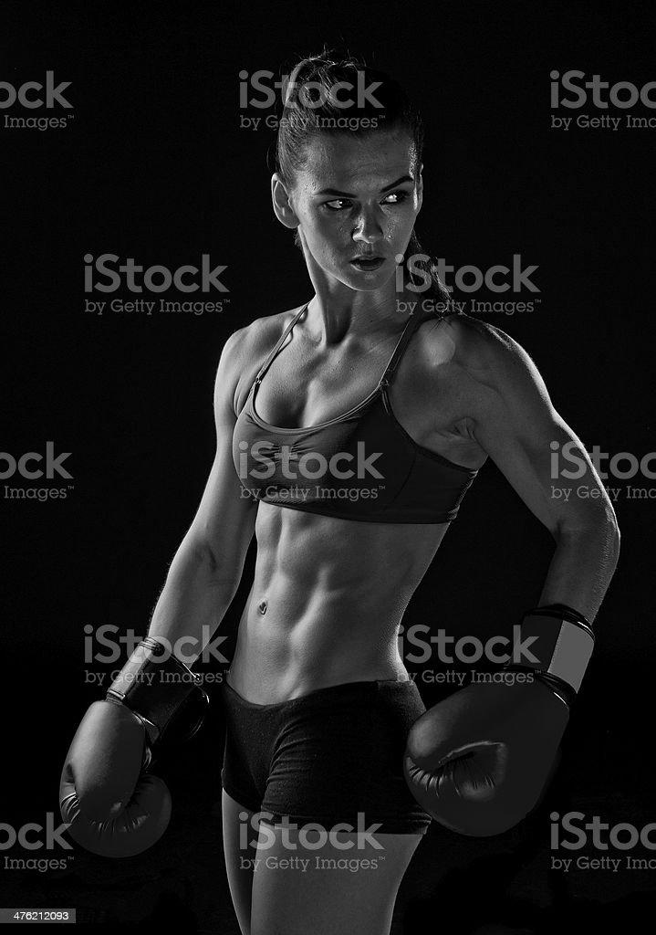 woman boxer stock photo