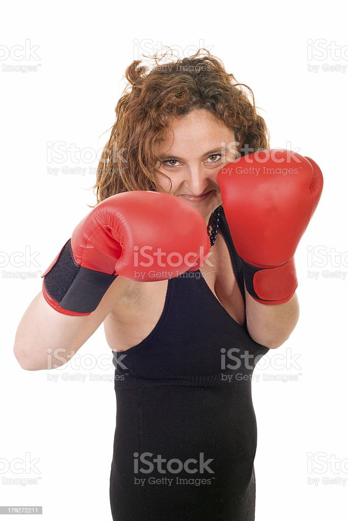 woman boxing royalty-free stock photo